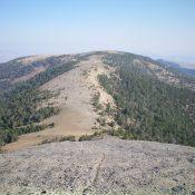 Reentrant Peak and its wide, gentle south ridge. Livingston Douglas Photo