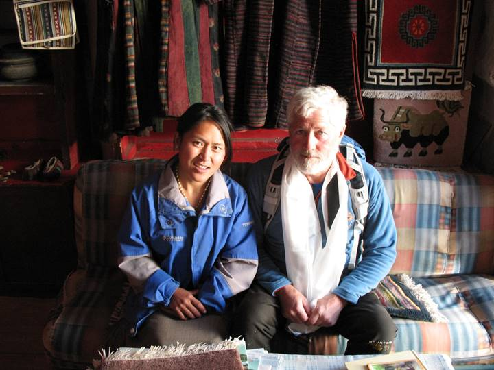 Here's my 2008 photo of Gordon & a merchant of Lo Manthang in remote Mustang, Nepal.