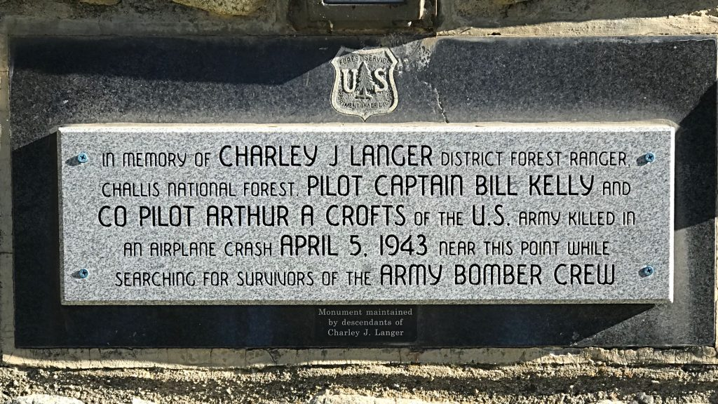 This memorial at the Langer Lake Trailhead provides the history behind the Langer name.