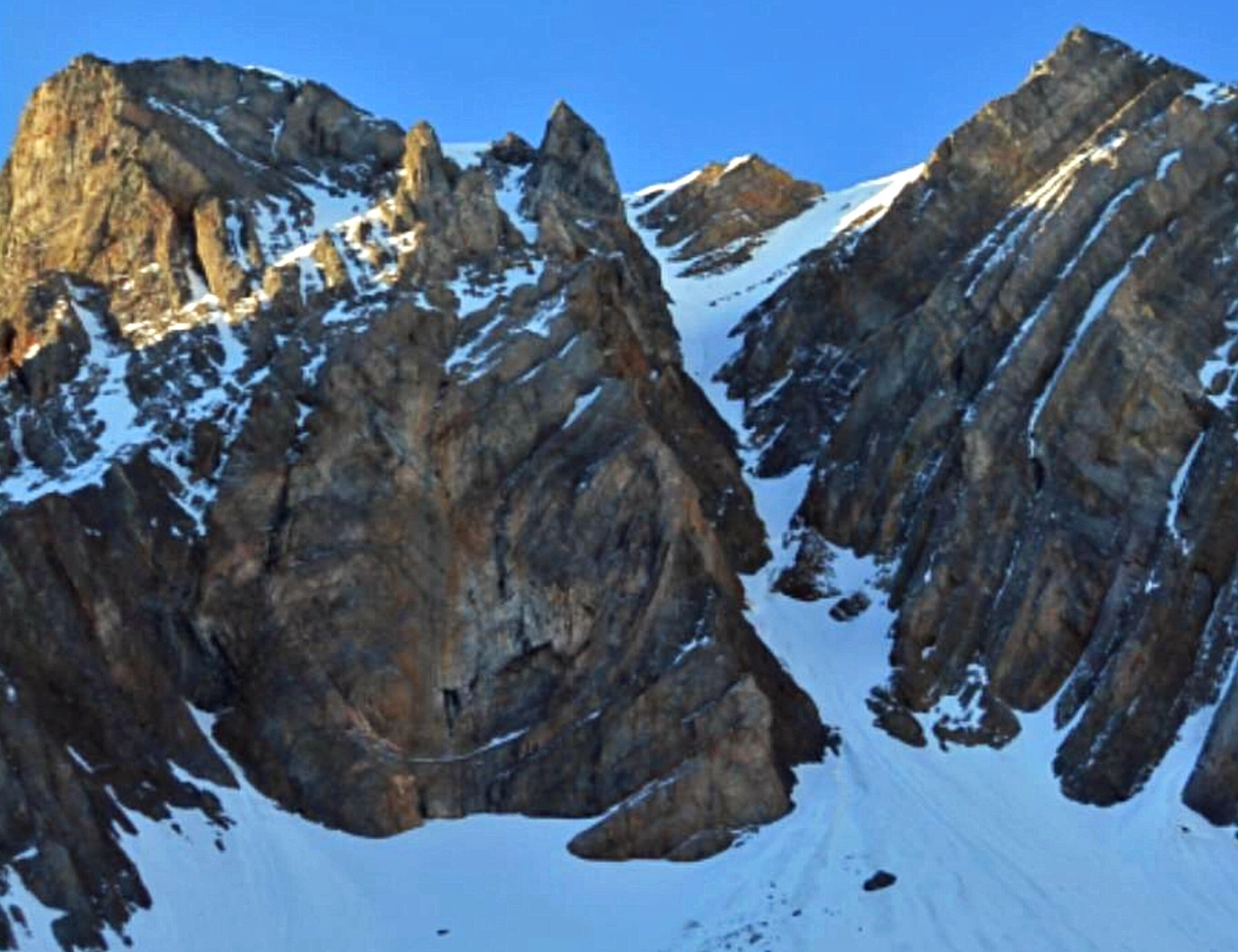North Couloir of Petros Peak. Pat McGrane Photo