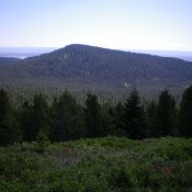 Moonshine Mountain as viewed from the west. Livingston Douglas Photos