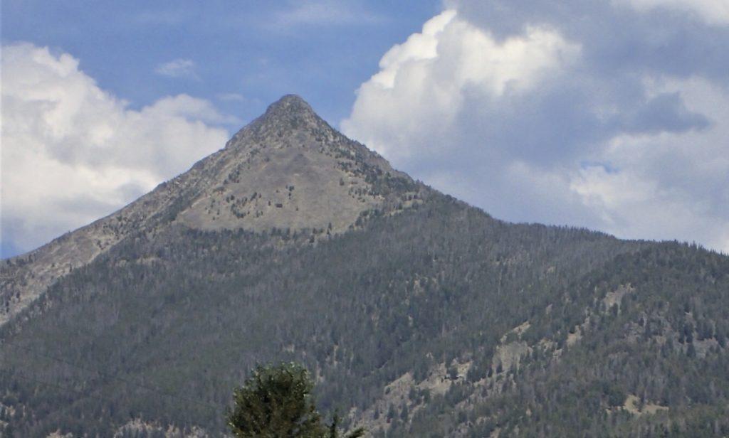 Copperhead Peak from Crimson Creek. The SW Ridge follows the right skyline. Judi Steciak Photo
