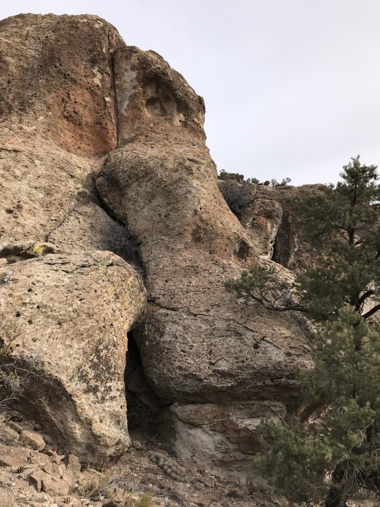 The south side of Peak 7195 is a series cliffs made up of broken boulders. Closer to civilization this area would be a prime bouldering spot.