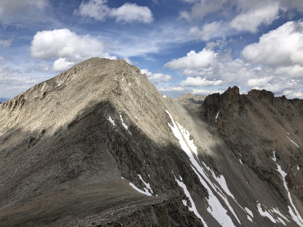 South ridge of The Fin, viewed from Recess Peak. Derek Percoski Photo