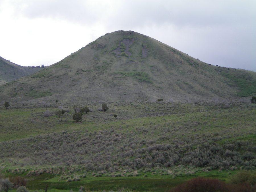 Rattlesnake Peak as viewed from the south of Hawkins Reservoir. Livingston Douglas Photo