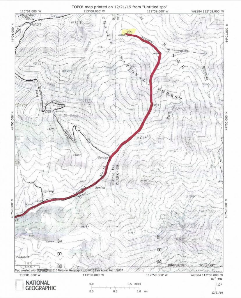 The South Ridge Route.
