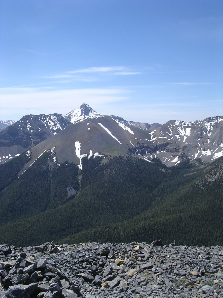 The Knoll from Rainbow with Bell Mountain in the background.
