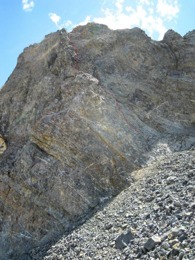 The Class 5 route to the summit of True Grit. Judi Steciak Photo