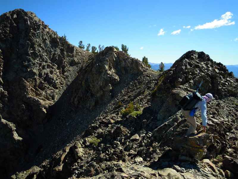 The Southwest ridge of Peak 10171. Carl Hamke Photo.