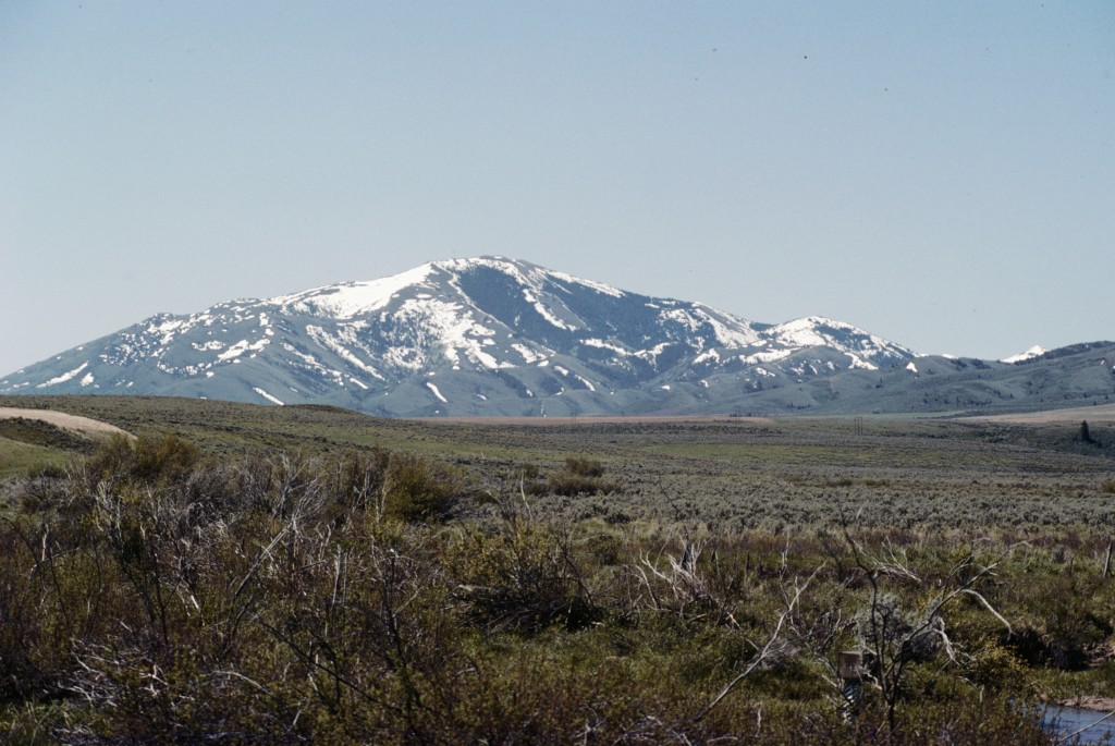 The Deep Creek Mountains are capped by Deep Creek Peak at 8,748 feet, viewed in this photo from the northeast.