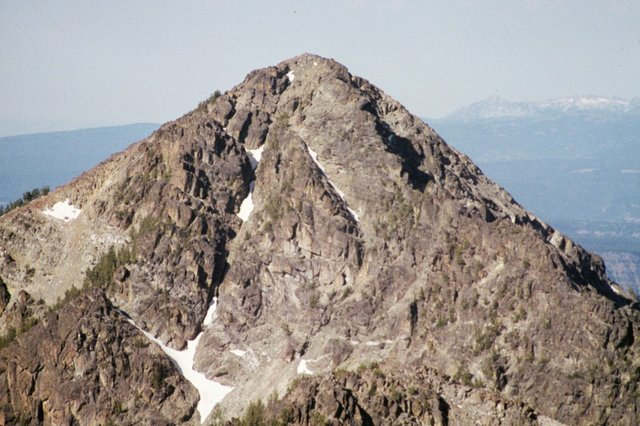 The Devils Throne from Mount Belial.