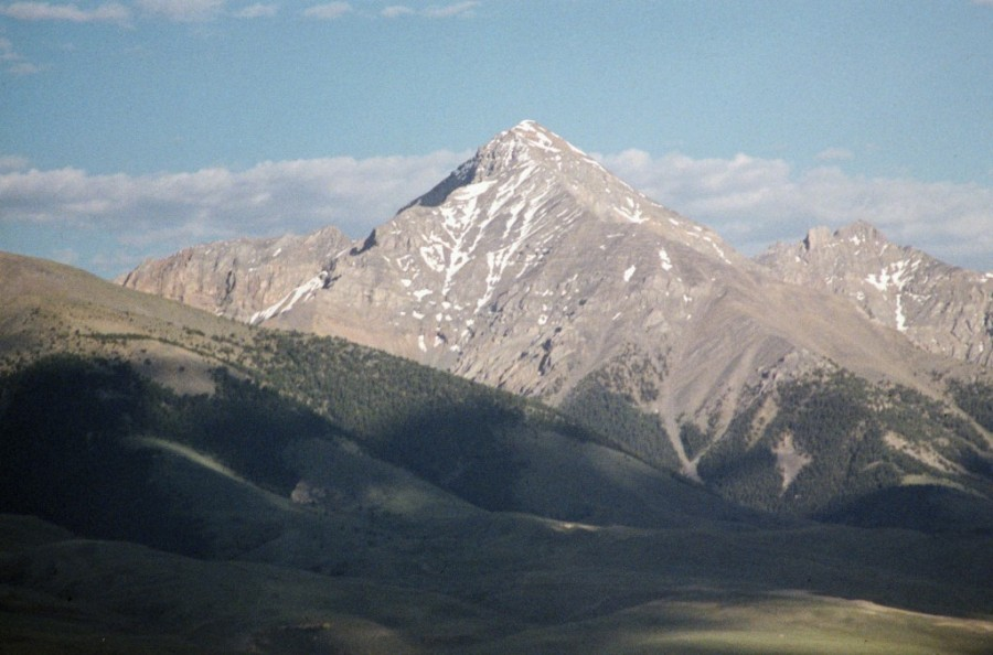 Diamond Peak from Italian Peak