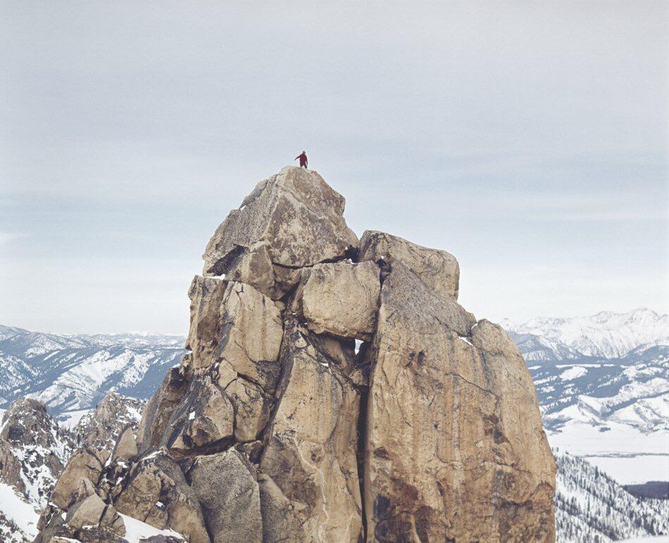 Harry on the summit block.