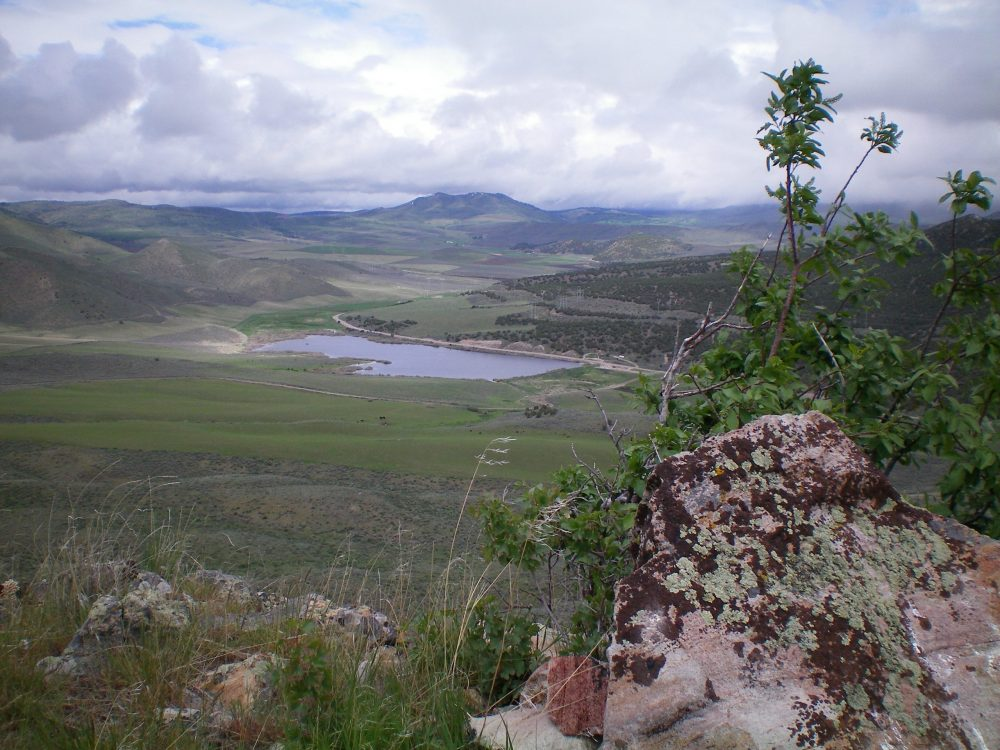 View of Hawkins Reservoir from the summit of Rattlesnake Peak. Livingston Douglas Photo