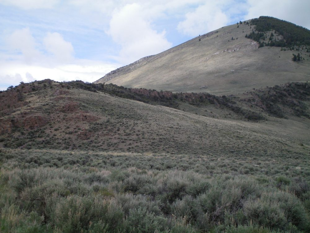 The East Ridge of Peak 8288 as viewed from the parking area. Livingston Douglas Photo
