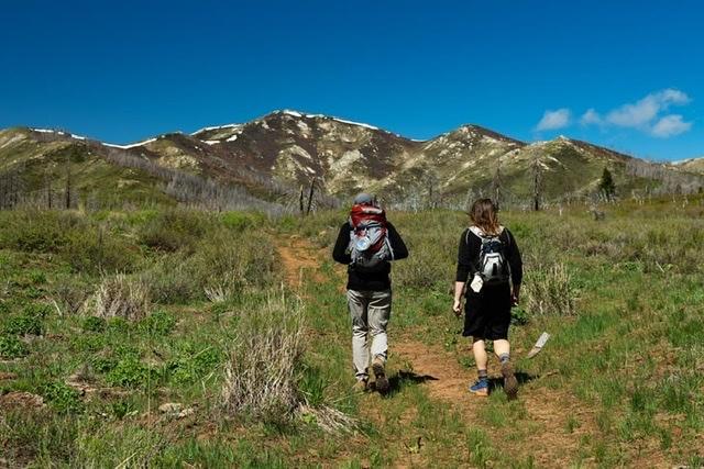 Approaching Granite Peak from the east. Ann Gorin Photo