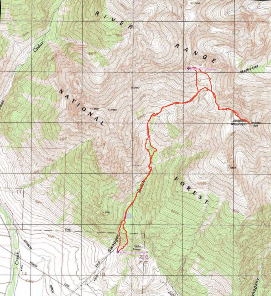 John Platt's GPS track. His route covered 7.9 miles with 5,232 feet of gain.