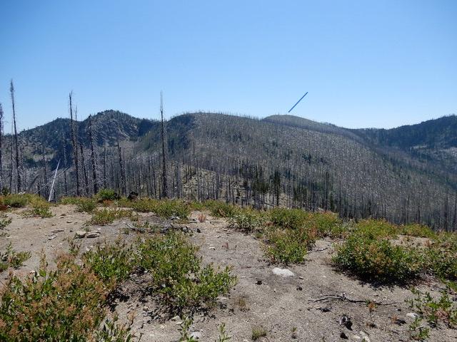 Zena Peak viewed from the west. John Platt Photo