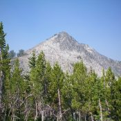 Rugged Peak 9641 as viewed from the base of the east ridge. Livingston Douglas Photo