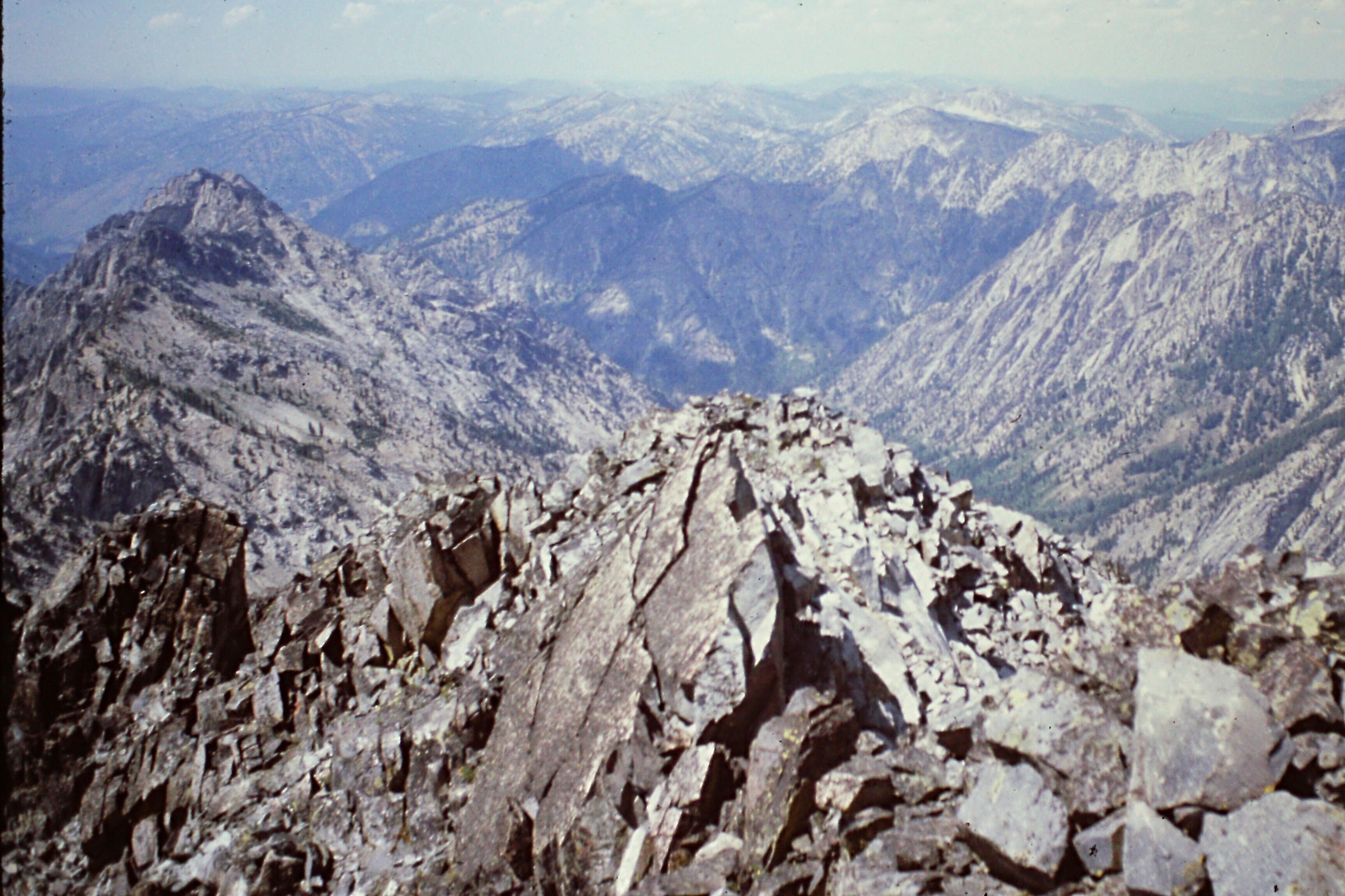 Looking down the west ridge. Steve Grantham Photo