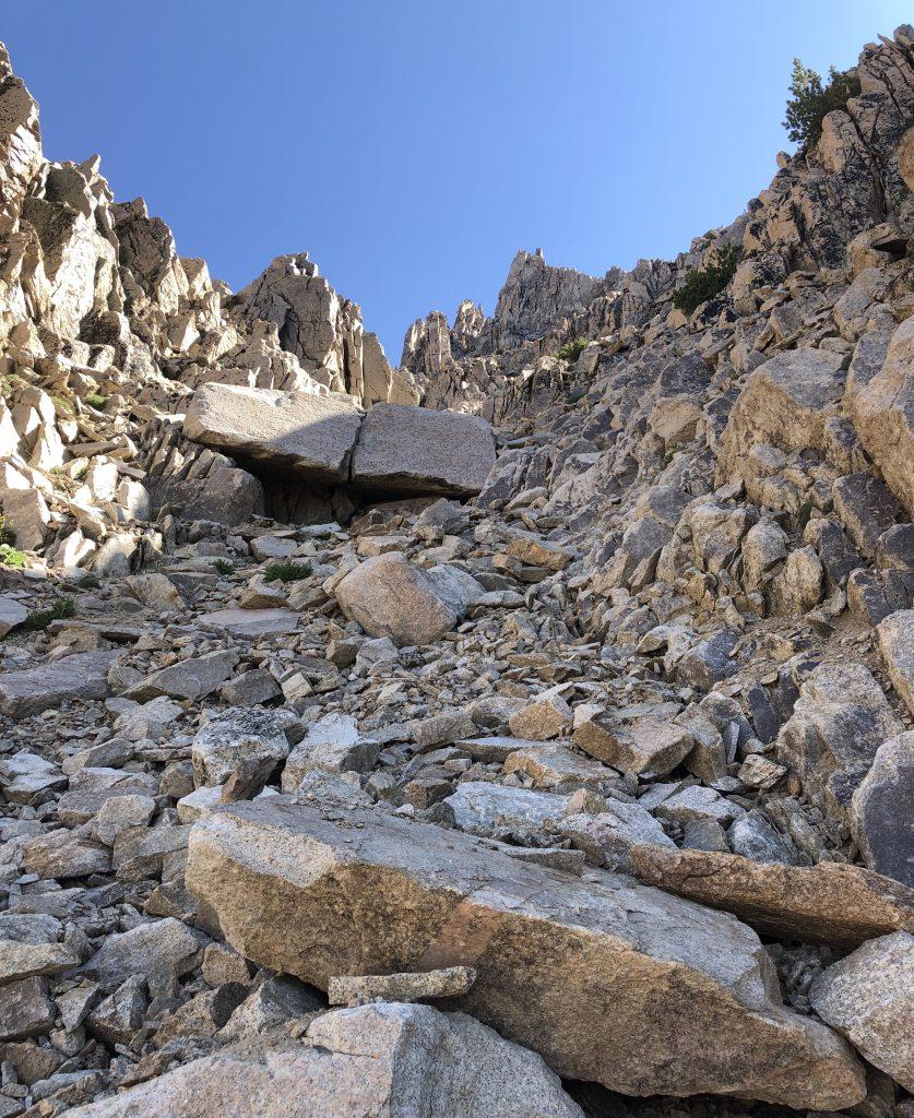 Lonesome Peak, Southwest Gully. Derek Percoski Photo