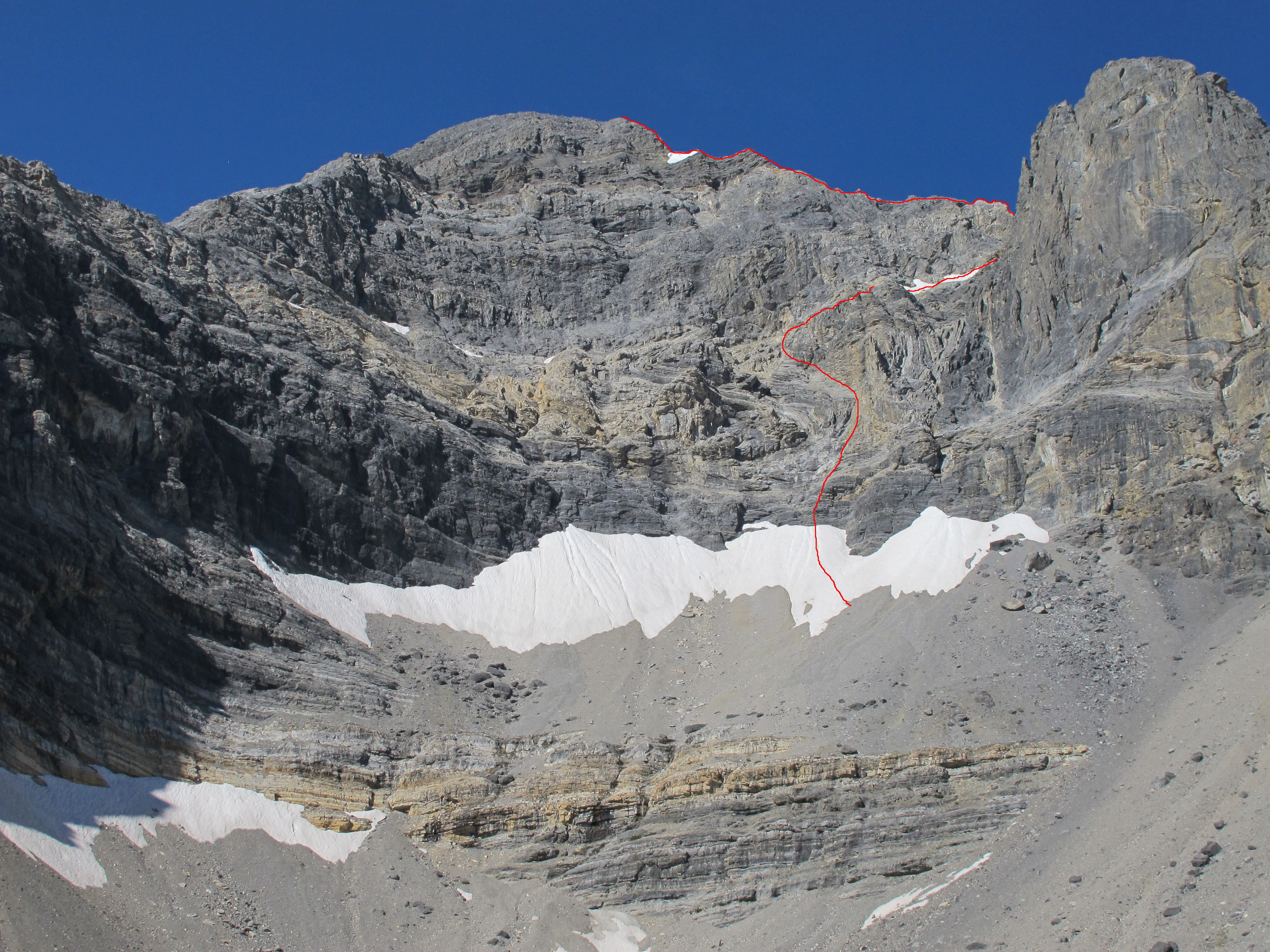 East Face-Northeast Ridge Variation. Bob Boyles Photo