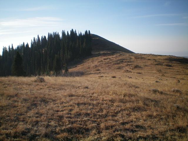 Looking up the north ridge to the pyramidal summit of Henry Peak. Livingston Douglas Photo