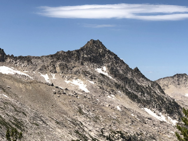 The south ridge and east face of Peak 10205.