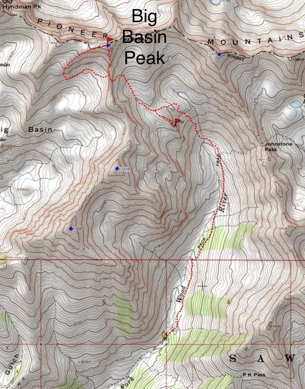 Dave Pahlas' GPS track for the South Ridge route.