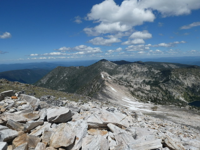 Looking down the north ridge from near the summit.