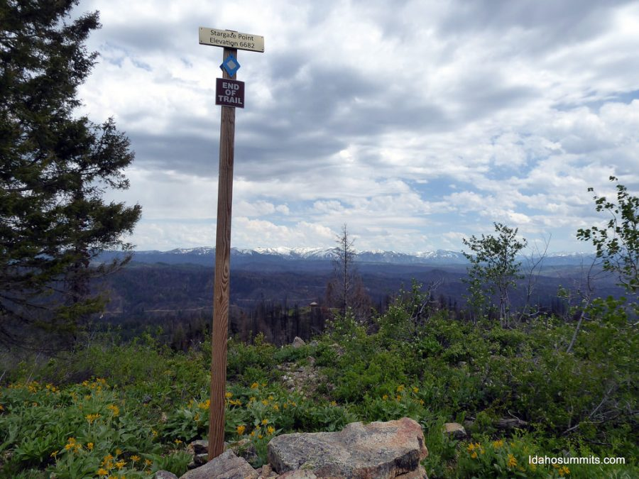 The summit of Stargaze Point. Dan Robbins Photo