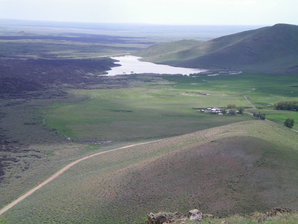 View of Lava Lake from the summit of Peak 5764. Livingston Douglas Photo