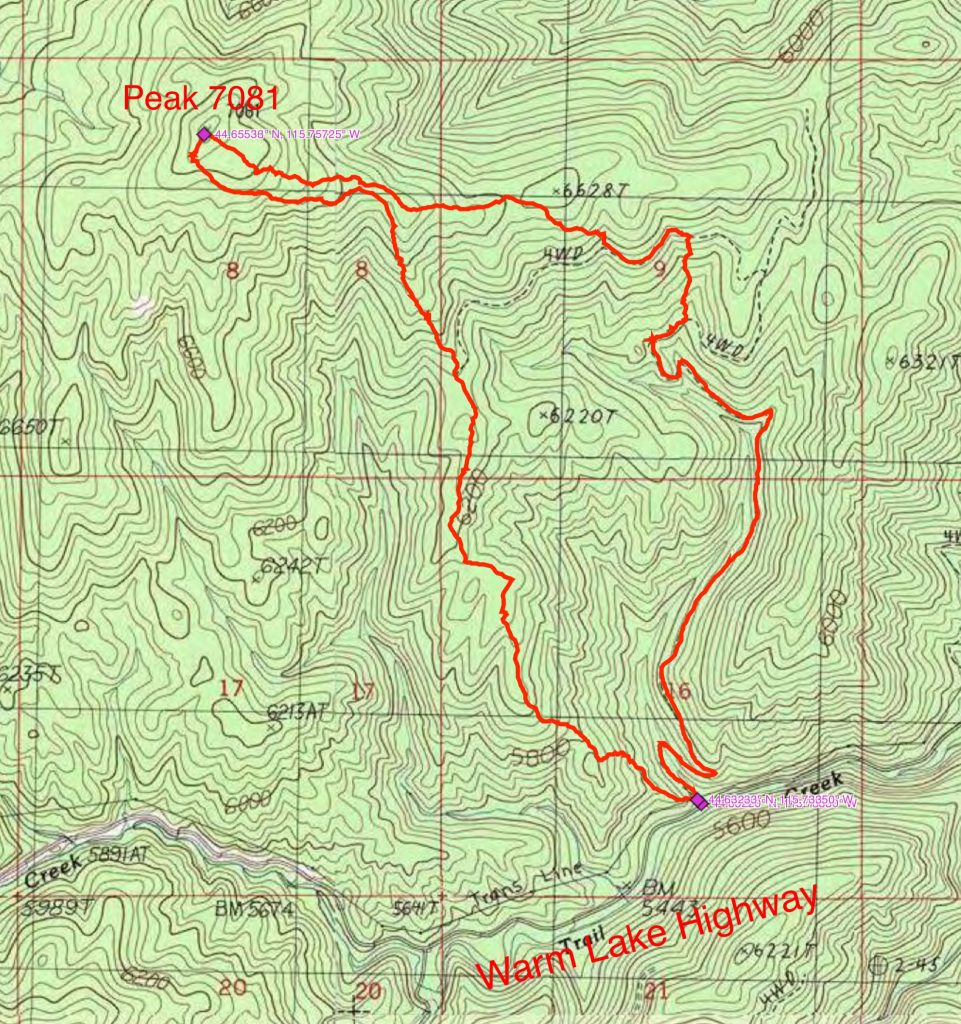 John Platt's GPS track.