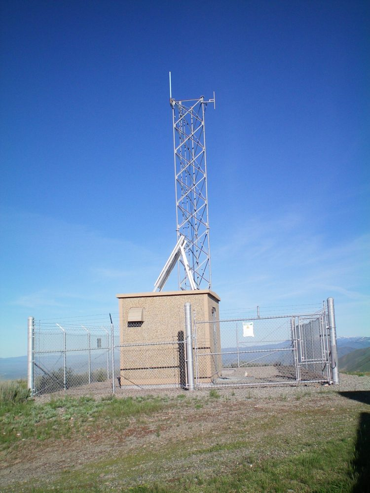 One of the two repeaters atop Bell Mountain. Livingston Douglas Photo
