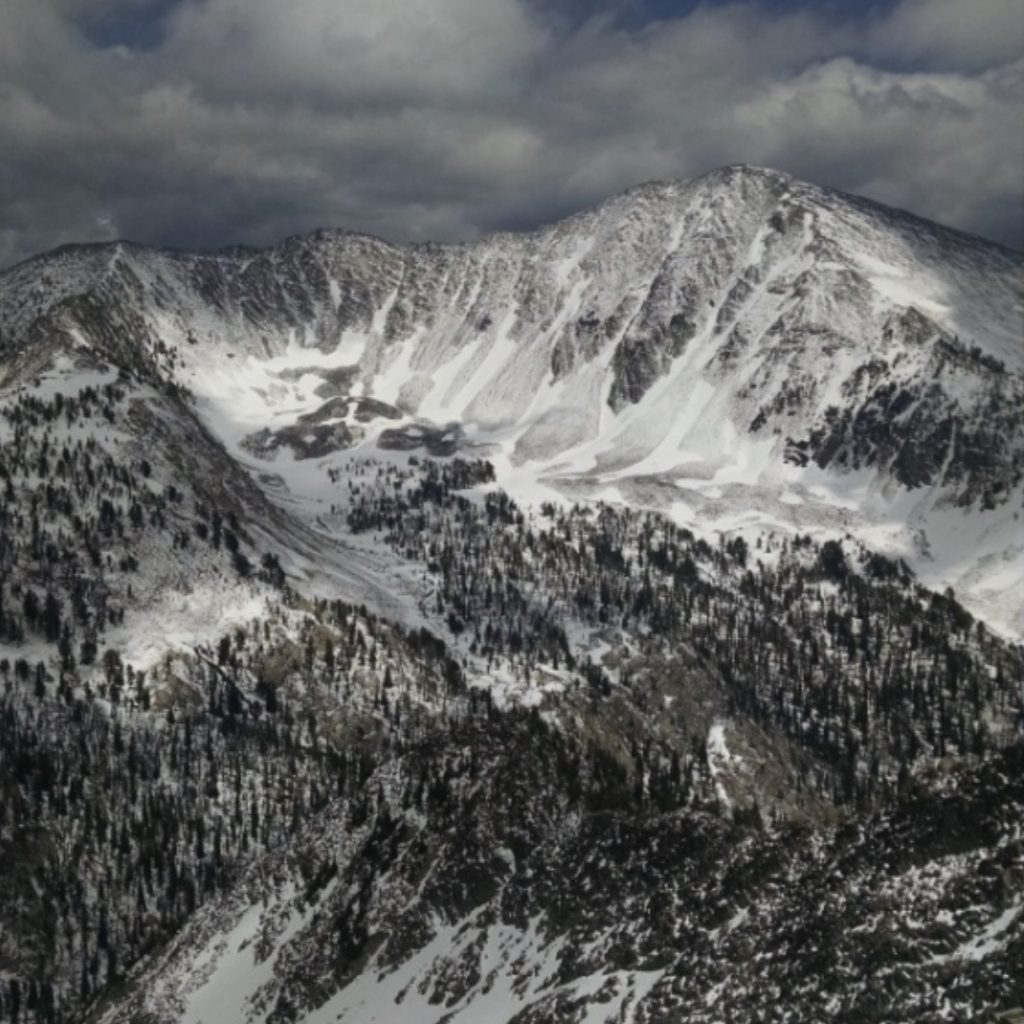 Center Mountain from Peak 9759. Jeff Hunteman Photo