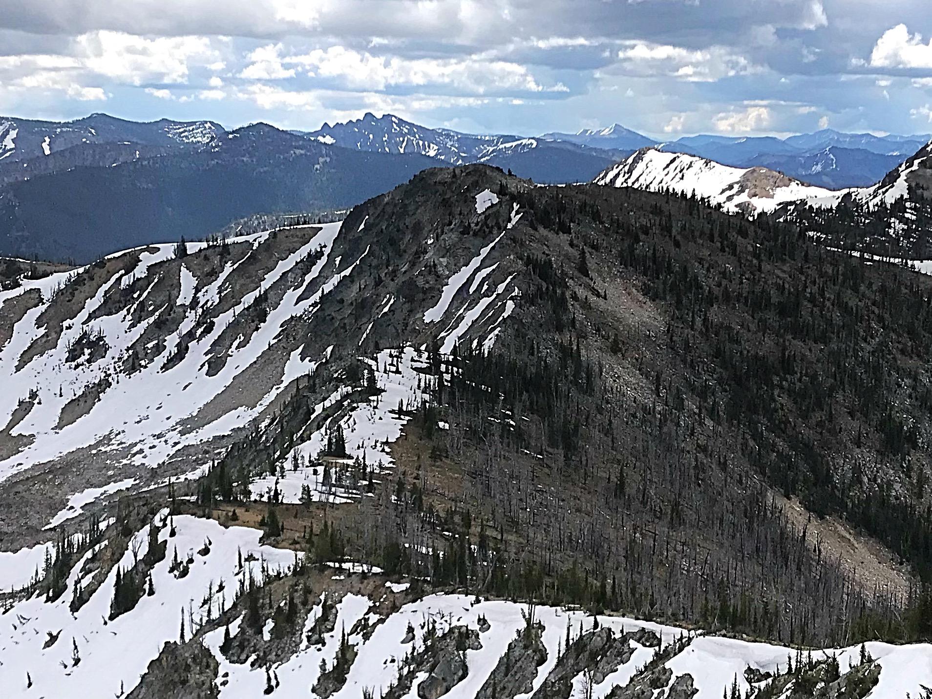 Peak 8615 viewed from Peak 8608.