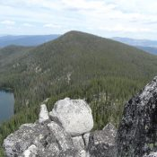 Lake Rock Peak Viewed from Lake Rock. John Platt Photo