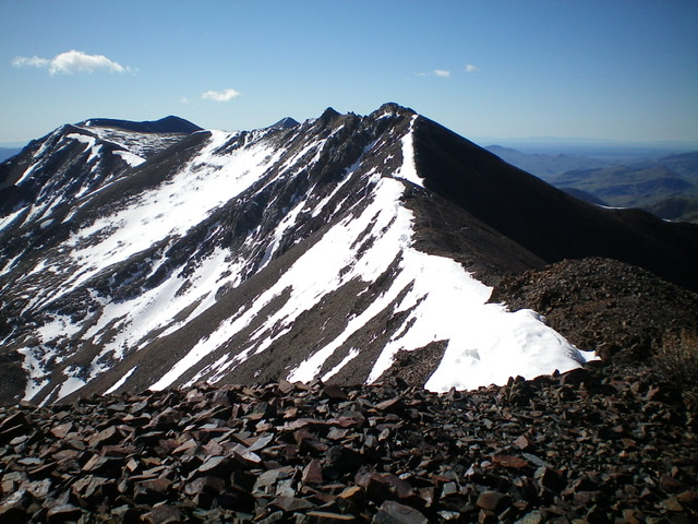 Looking south at Cabin Mountain and the White Knob Crest from the summit of North Cabin Mountain. Livingston Douglas Photo