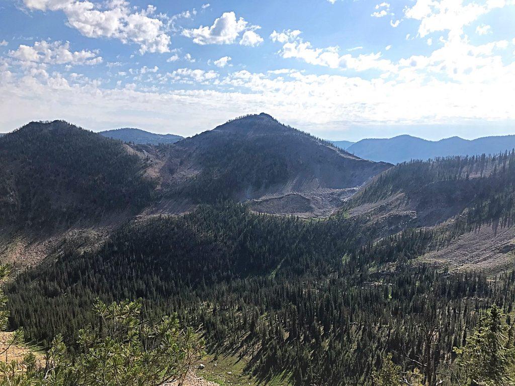 Wolf Fang Peak viewed from Peak 8722.