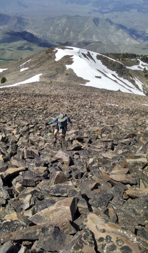 The top of the northwest ridge route. Jeff Hunteman Photo