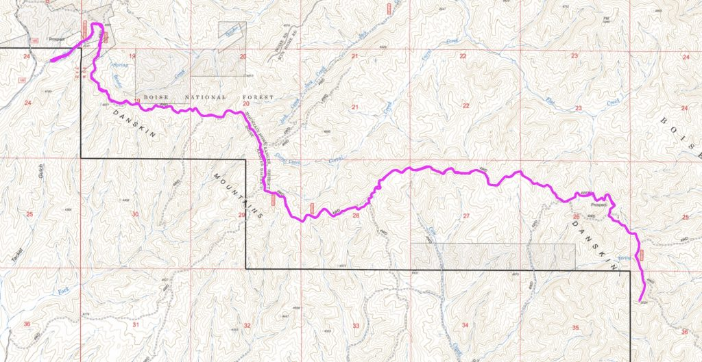 """My GPS track. Many would consider this hike a """"death march."""" Take plenty of water and watch out for snakes."""