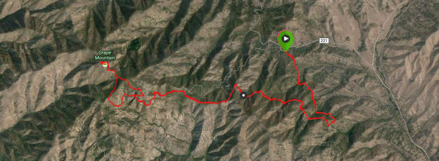 This track shows the route I took to the summit. The topo maps do not show the road leading to the summit but it does.