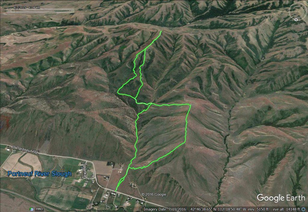 Peaks 5762 and 6495 via loop route. Tracks - Margo Mandella