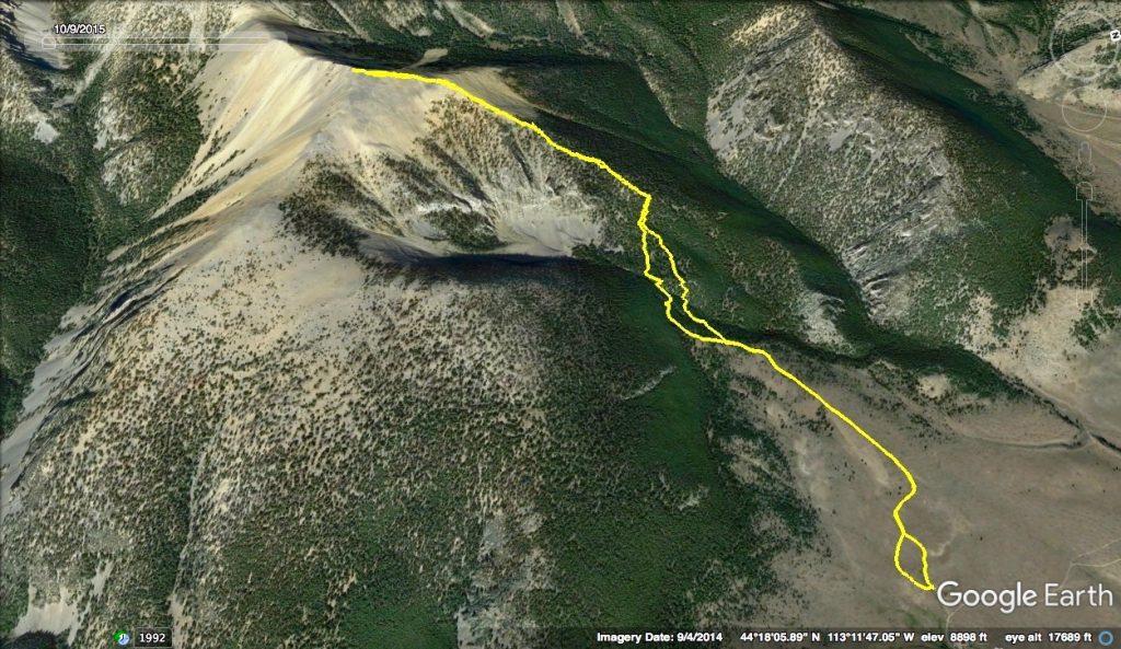 Southeast Ridge GPS Track, Margo Mandella.