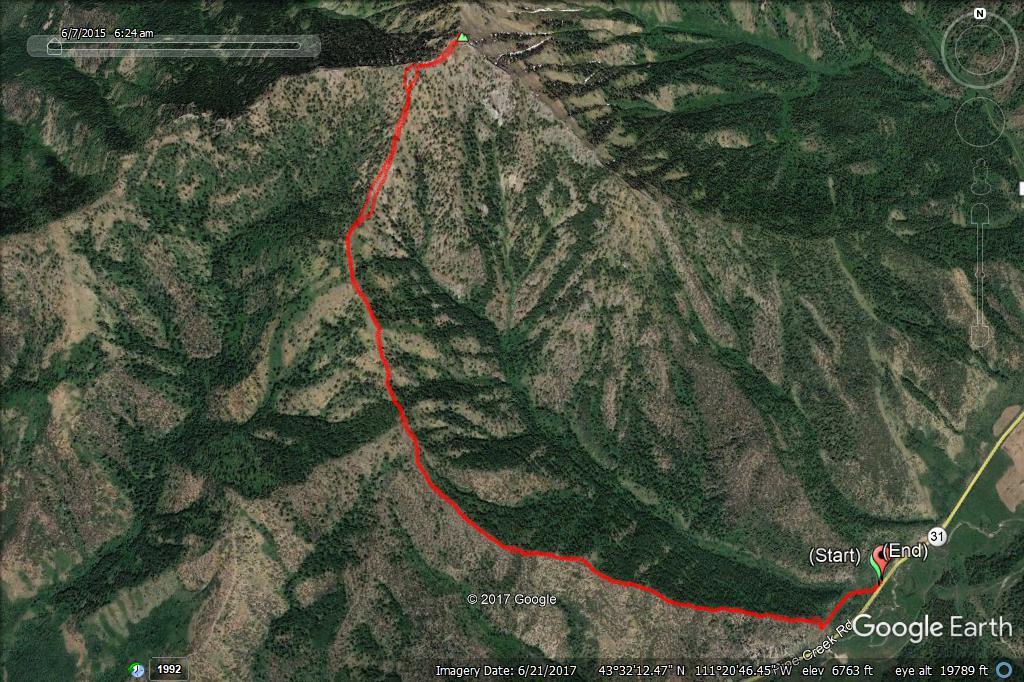 Stouts Mountain - GPS Track, Margo Mandella