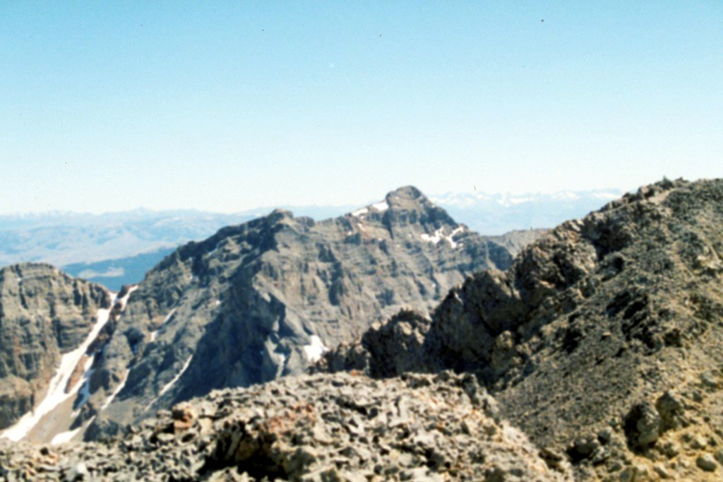Gooseberry Peak from Tinity Peak. Sorry about the poor scan of this slide.