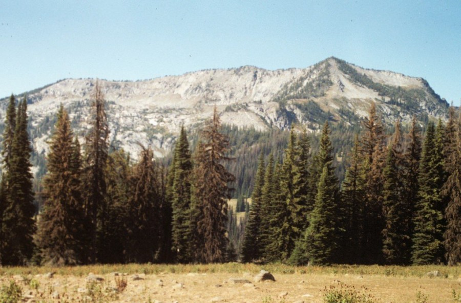 Hard Butte from the east in 1990.