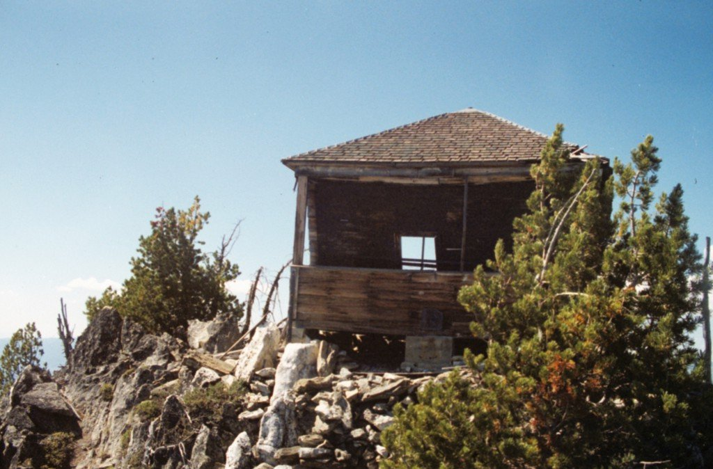 The remains of the Hard Butte lookout in 1990.