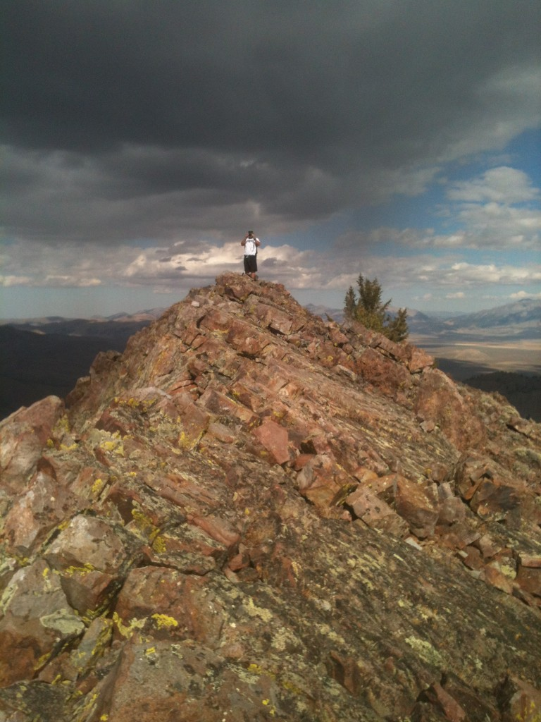 The Wildhorse fire lookout is not the peak's high point. It is an easy hike to the high point which is just to the north.