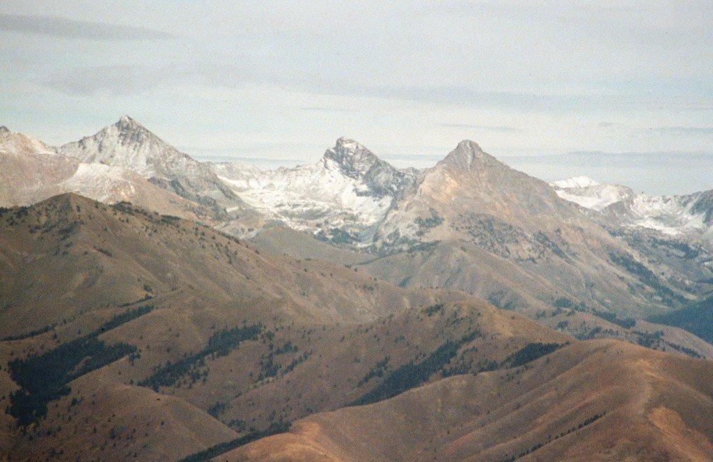 The Big Three--Hyndman, Old Hyndman and Cobb from the summit Baldy Mountain.
